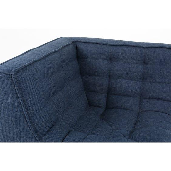 Indigo blue low corner chair image