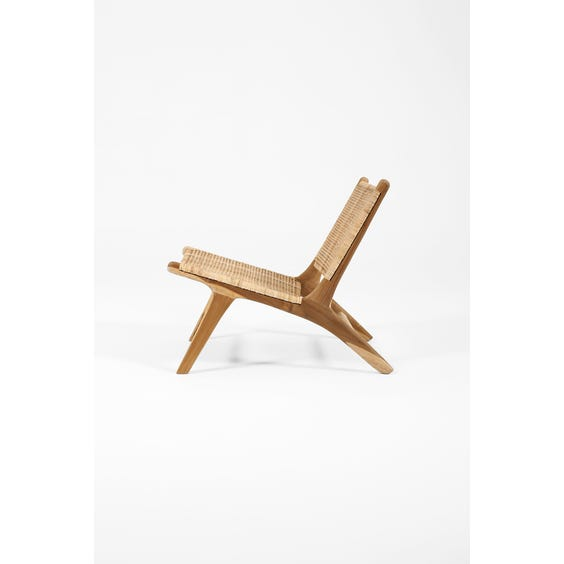 Rattan and raw natural teak Gong chair image