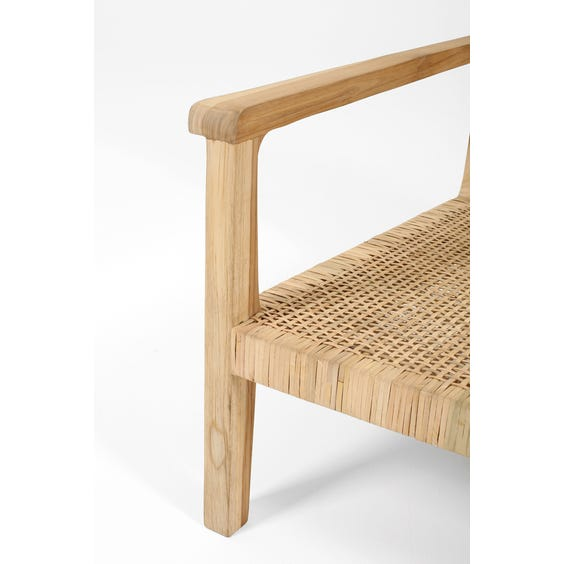 Raw natural teak wide lounge chair image