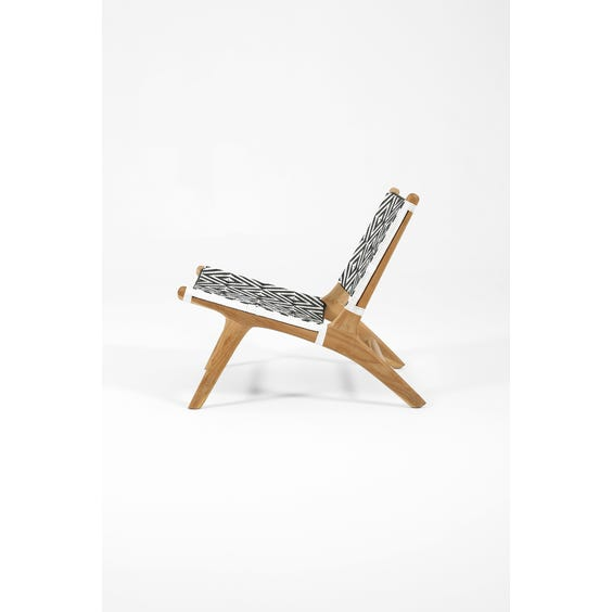Woven tribal low Gong chair  image