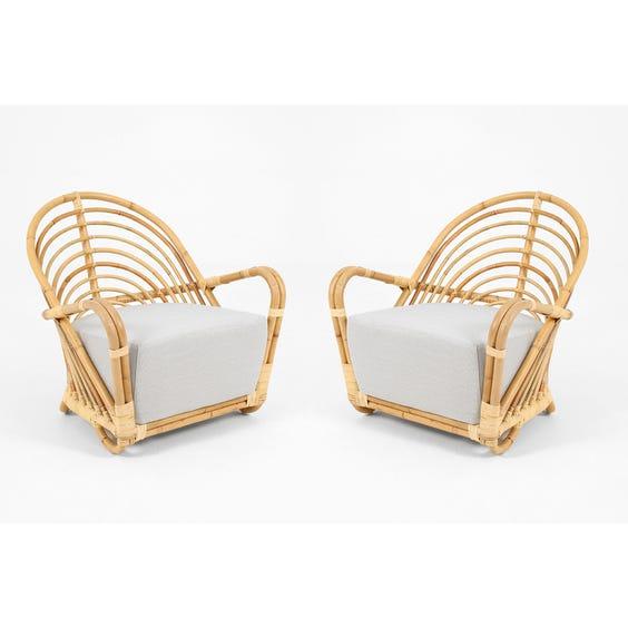 Midcentury Danish rattan armchair image