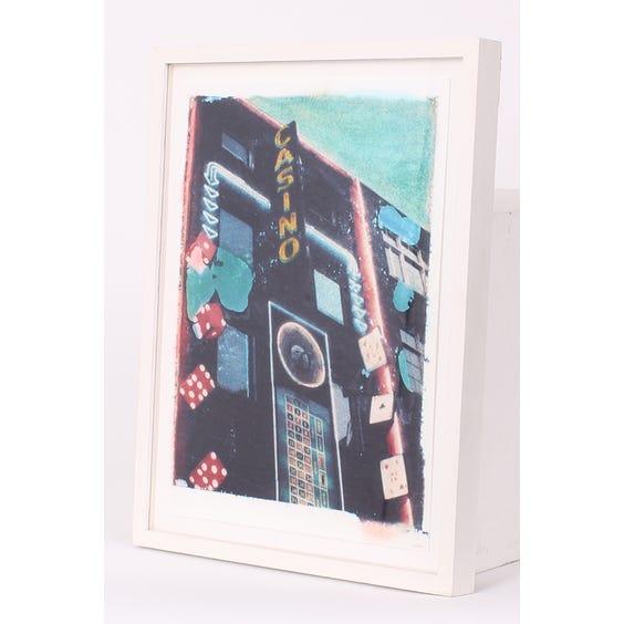 Hand tinted casino print image