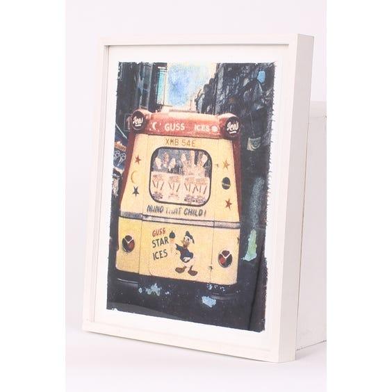 Hand tinted ice cream van print image