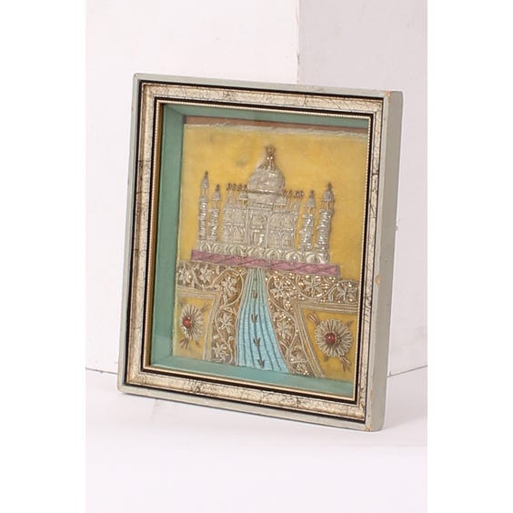 Small embroidered Taj Mahal picture image