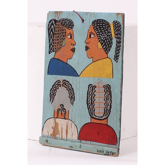 African barber hairstyle painting image