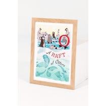Modern 'A Raft of Otters' Print