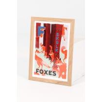Modern 'A Skulk of Foxes' print