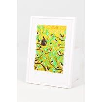 Modern 'A Chime of Wrens' print