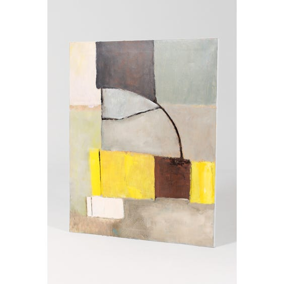 HB abstract blocks painting on canvas image