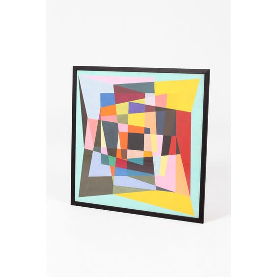 Multi-colour abstract geometric painting image