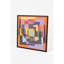 Multi-colour abstract geometric painting