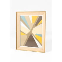 Geometric perspective oil painting
