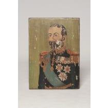 Vintage military man painting