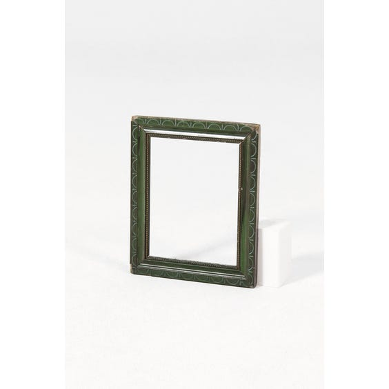 Jade green empty wooden frame image