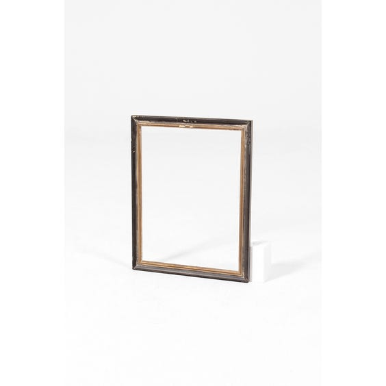 Black painted empty wooden frame image