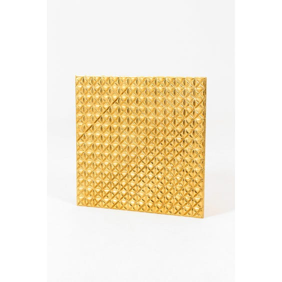 Gold square metal wall panel image