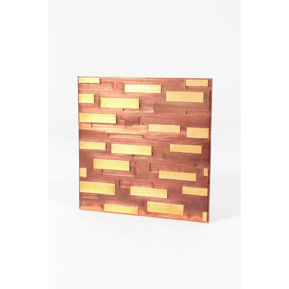 Copper square metal wall panel image