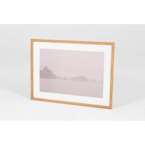 AD lilac misty seascape photograph image