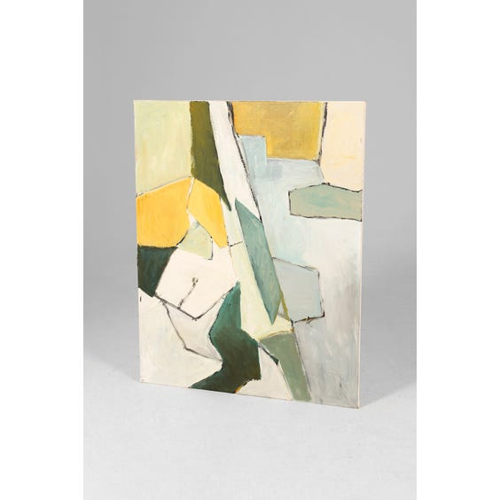 Abstract block painting on canvas image