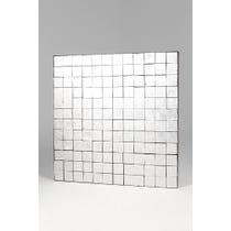 Silver multi square panel