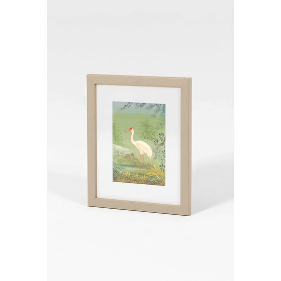 Indian watercolour crane painting image
