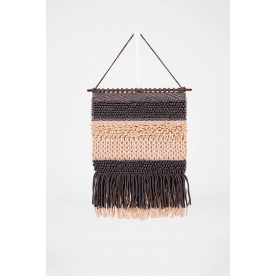 Woven wool wall hanging image