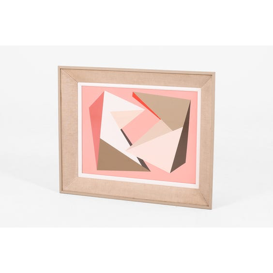 Pink geometric oil painting image