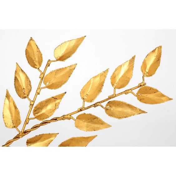 Gold branch wall sculpture image