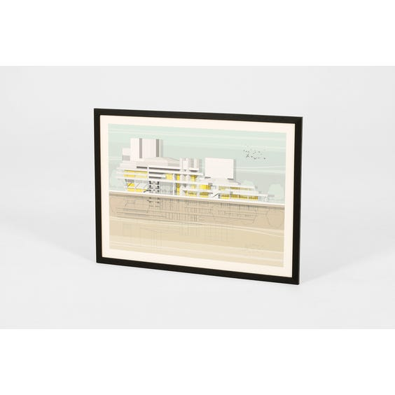 National Theatre architectural print image
