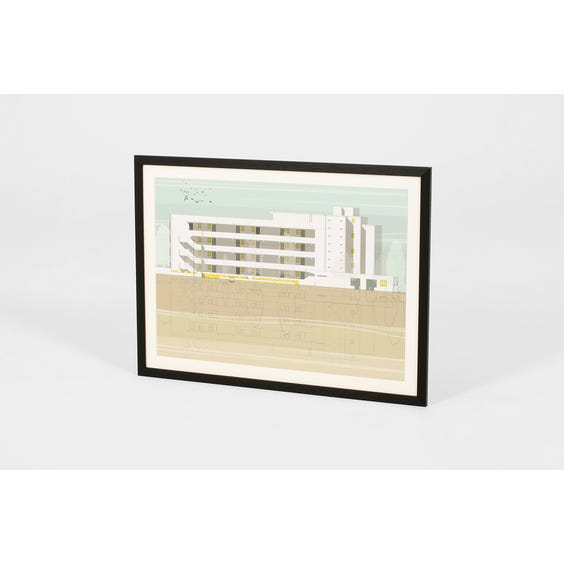 Isokon building architectural print image
