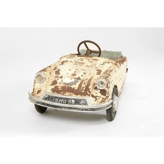 Midcentury metal model pedal car image