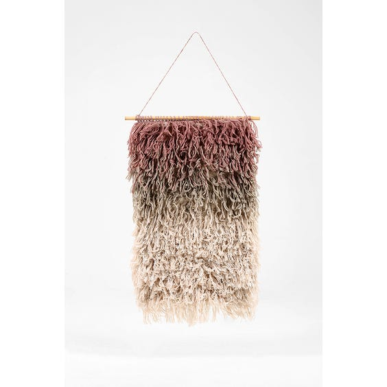 Fringed pink wall hanging image