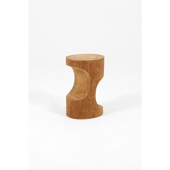 Double arch wooden stool image