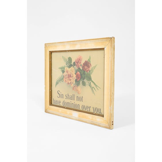 Religious poster in wooden frame image