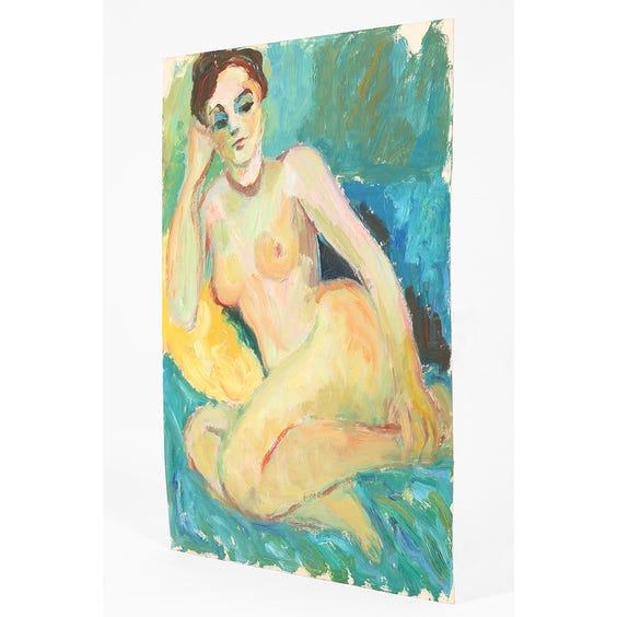 Oil painting of nude woman  image