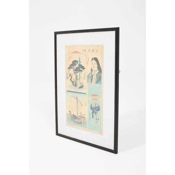 Japanese 'cloud tree' woodblock print  image