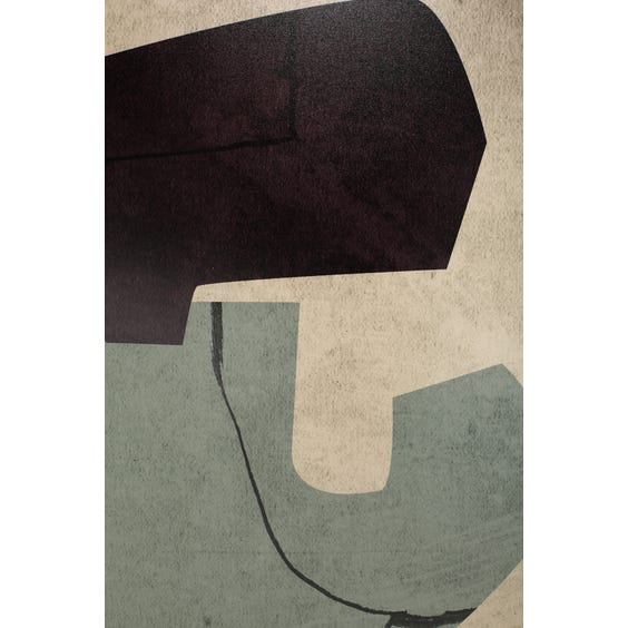 Print of aubergine and dusky blue shapes  image
