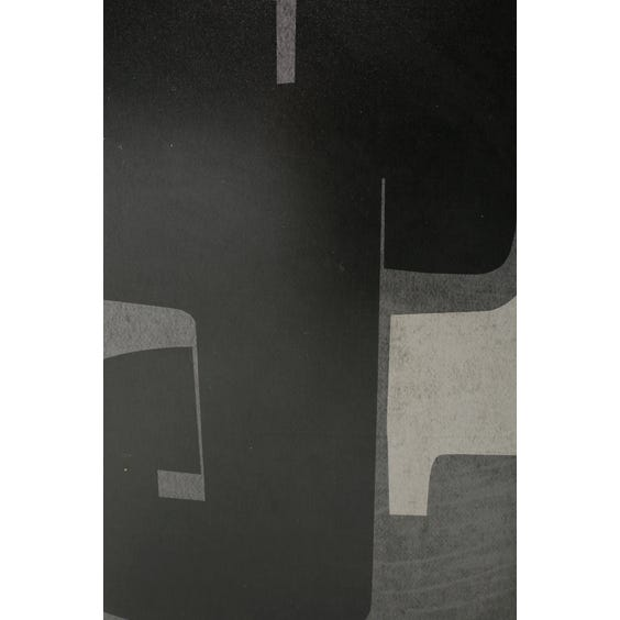 Print of black and pale grey abstract J shape  image