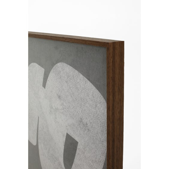 Print of pale grey abstract shape  image