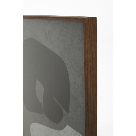 Print of black and pale grey abstract shapes image