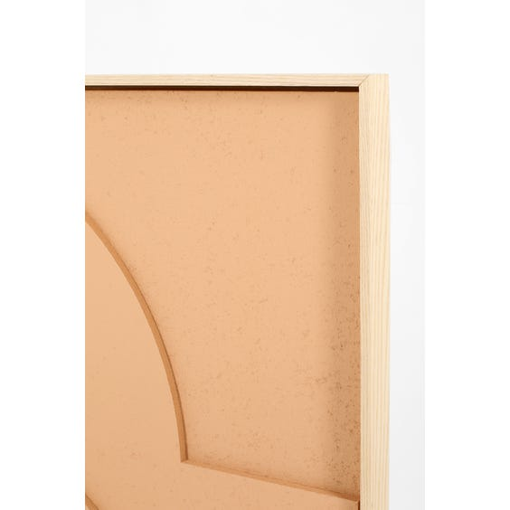 Muted peach abstract relief panel  image