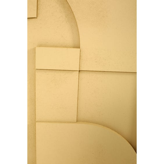 Sand geometric abstract relief panel image