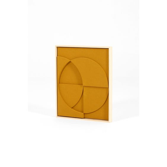 Ochre abstract relief panel image