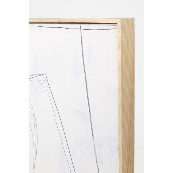 Extra large white impasto painting image