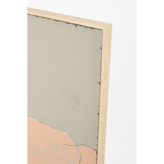Large mouse grey and blush pink abstract painting  image