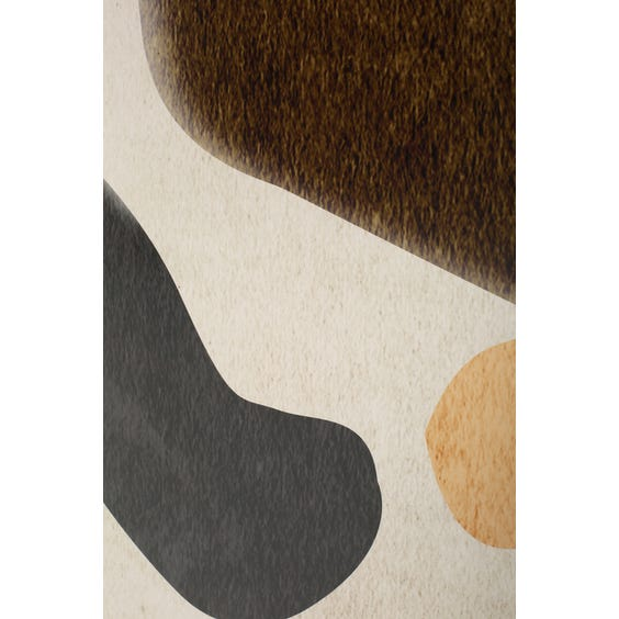 Large print of moss brown black and apricot shapes  image