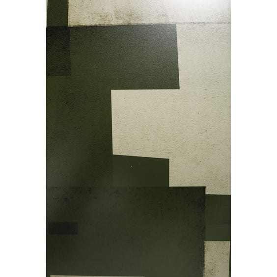 Print of forest green overlapping shapes image
