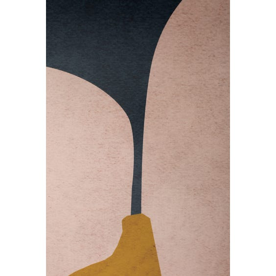 Print of pale pink ochre and mid blue shapes image