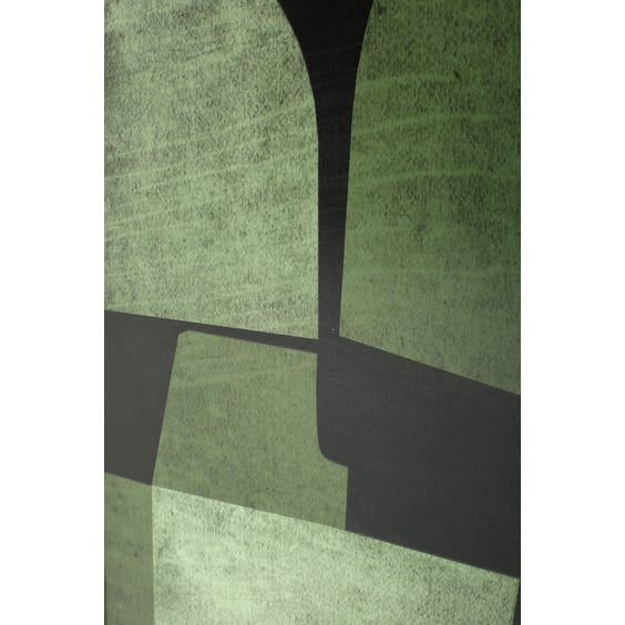 Print of tonal green overlapping shapes image