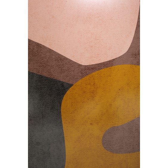 Print of ochre pale peach dark mauve and burgundy shapes image